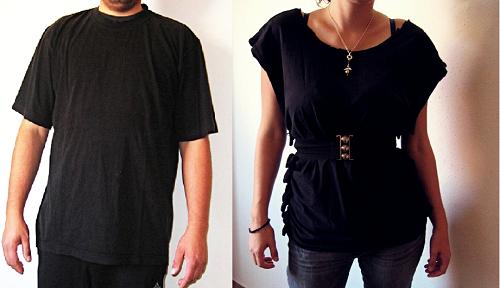 DIY Shirt aus alten Herrenshirt