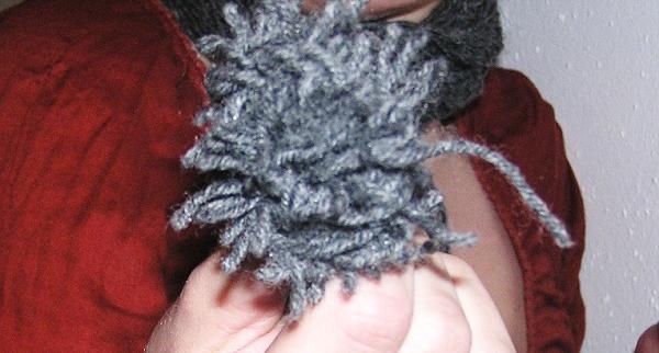 Schal mit den Fingern stricken