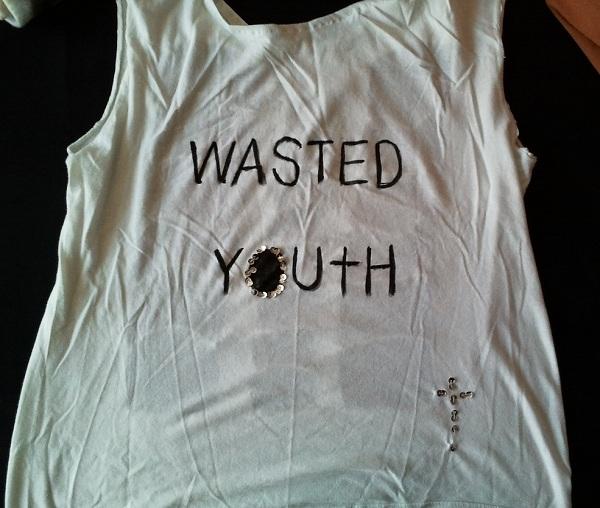 Wasted Youth Shirt für Halloween