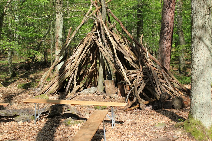 Hütten Binger Wald