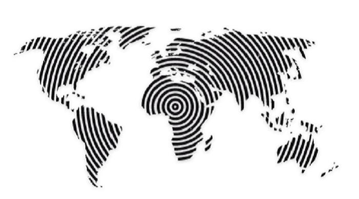 Wandtattoo ( Weltkarte )
