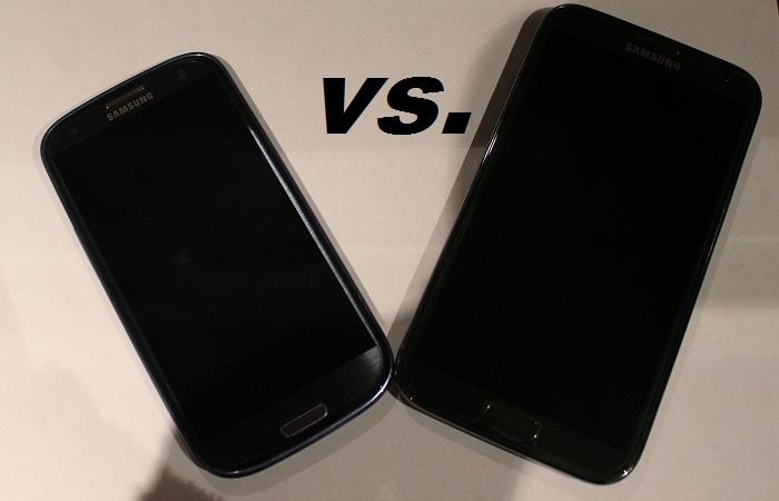 Galaxy S III vs. Galaxy Note 2