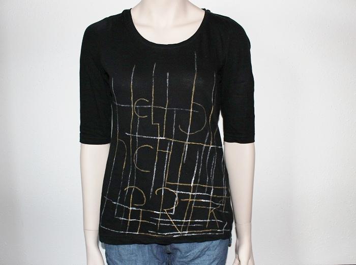 T-Shirt mit Stiften bemalen