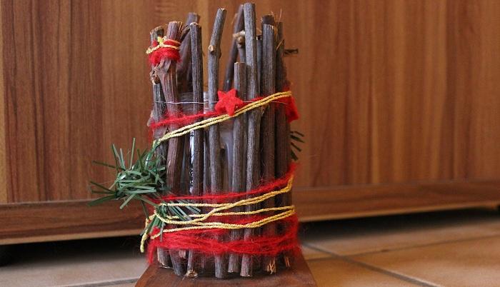 Weihnachtlicher Teelichthalter selbstmachen