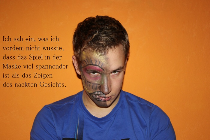 Gesichtsbemalung Two Face