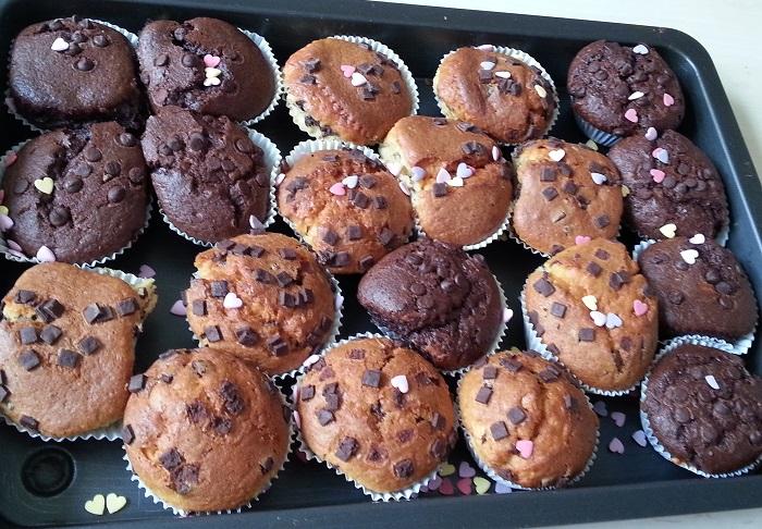 Vanille/Erdbeer Muffins