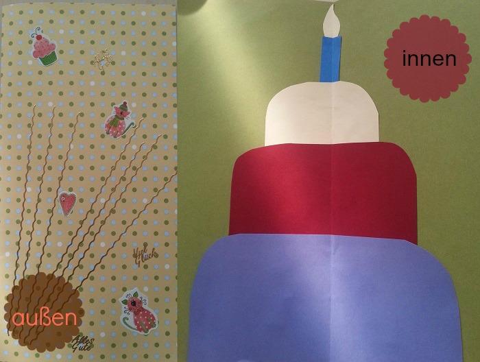 selbstgemachte Geburtstagskarte