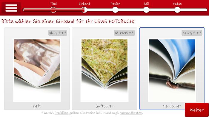 CEWE Fotobuch App