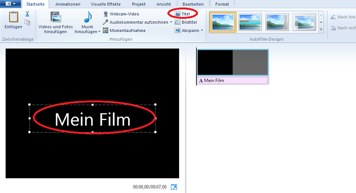 Wie speichere ich mit Movie Maker mein Video?