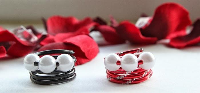 DIY Ringe mit Perlen