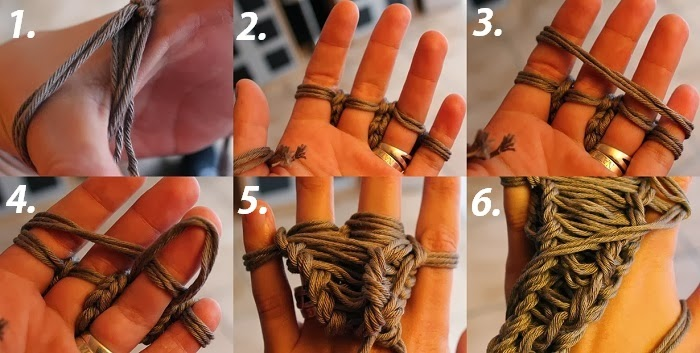 Tutorial - Fingerstricken: Schal ohne Nadel stricken