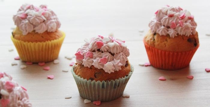 Muffins mit Schokotropfen-Vanille