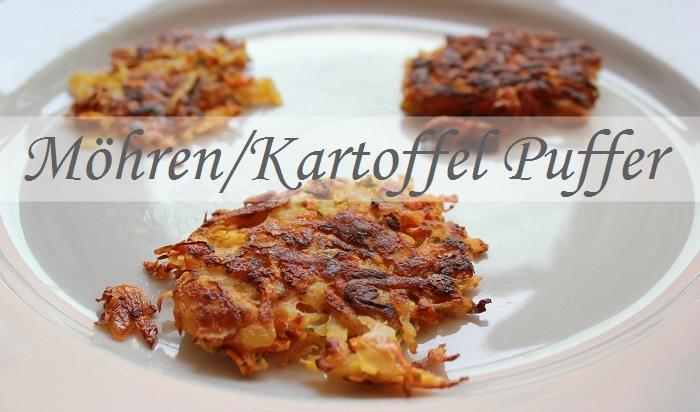 Vegetarisches Rezept: Möhren/Karotten Puffer