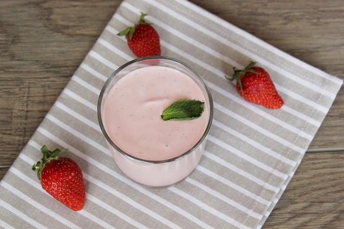Rezept für ein Dessert mit Erdbeeren