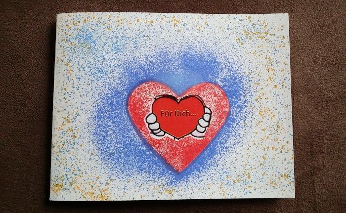 Blow Pen: Selbstgebastelte Liebesbotschaft