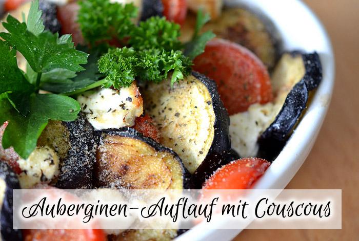 Auberginen-Auflauf mit Couscous