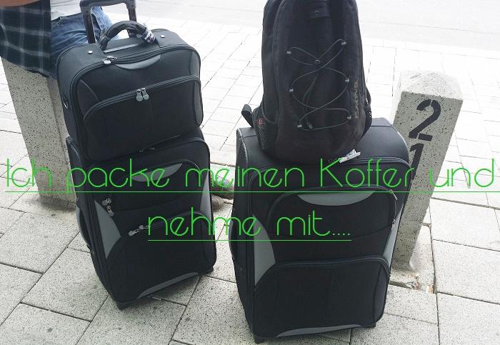 Koffer für lange Reise packen