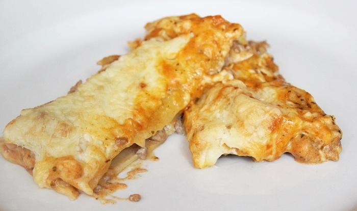 Rezept: Cannelloni mit Frischkäse/Hackfleischfüllung