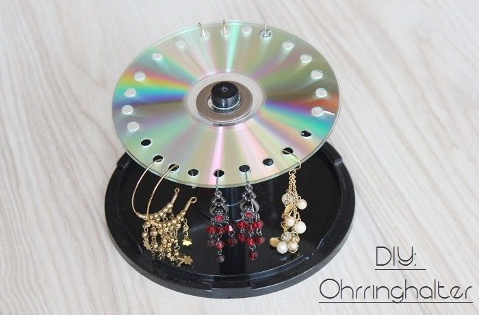 upcycling f r alte cds ohrringhalter the inspiring life