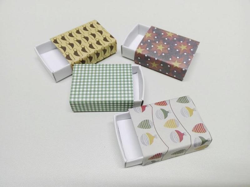 Geschenke in Streichholzschachteln verpacken