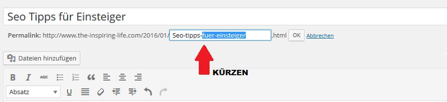 Seotipps: URL optimieren
