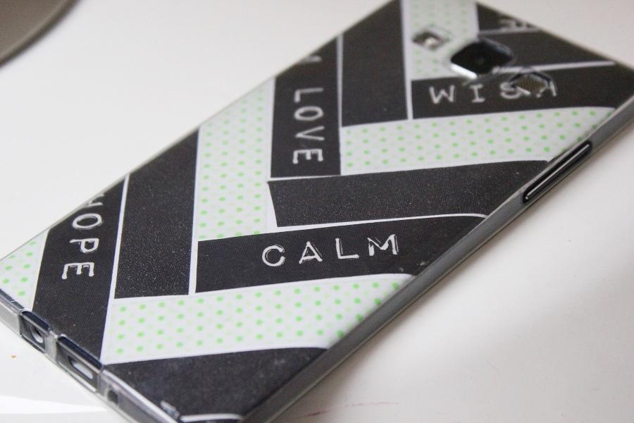 washi tape handyhülle verzieren