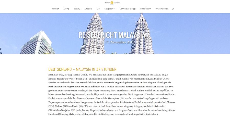 Erfahrungsbericht Malaysia