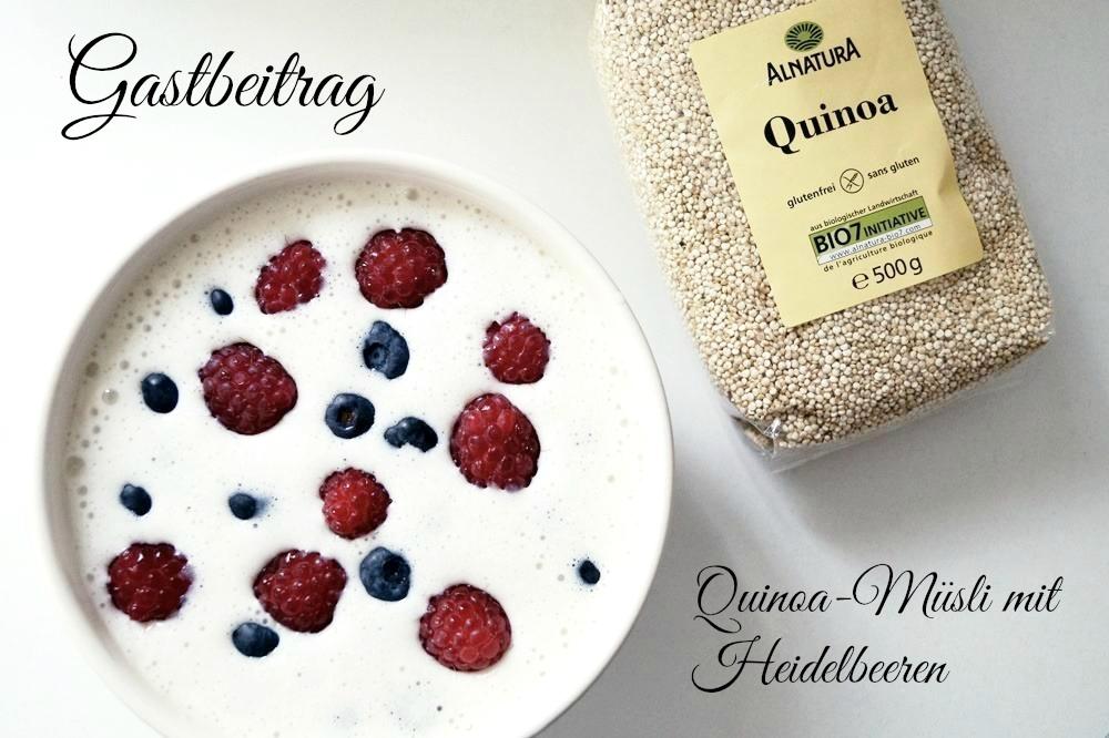 Quinoa-Müsli mit Heidelbeeren