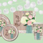 rustic-wedding-hochzeitsdekoration|shabby chic hochzeit | Festliches Pappgeschirr