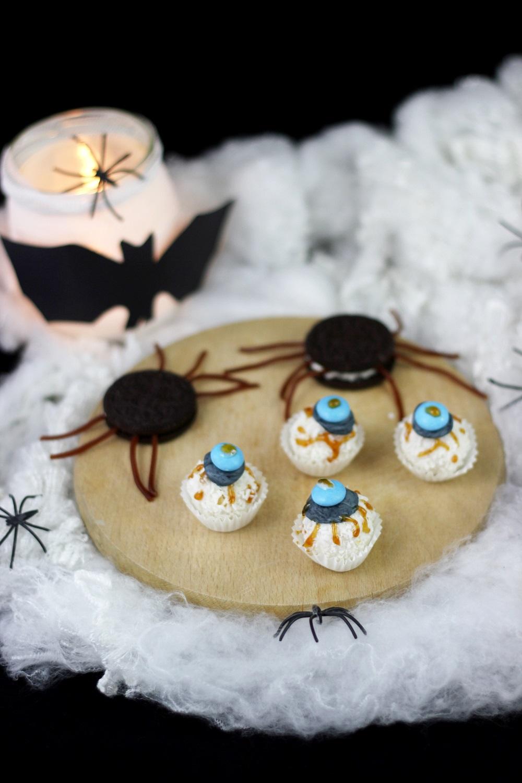 suesse-halloweensnacks| Schokoladenspinnen
