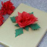 Blume aus Serviette