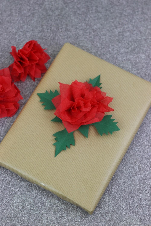 Weihnachtsstern aus Serviette