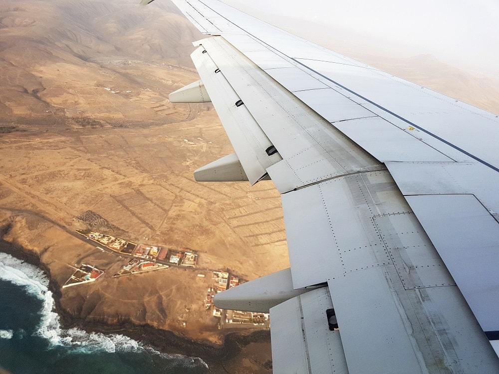 Fuerteventura Flughafen Landung