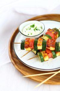 Zucchini-Wassermelonen-Spieße