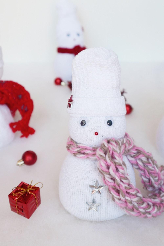 Schneemann aus Socken