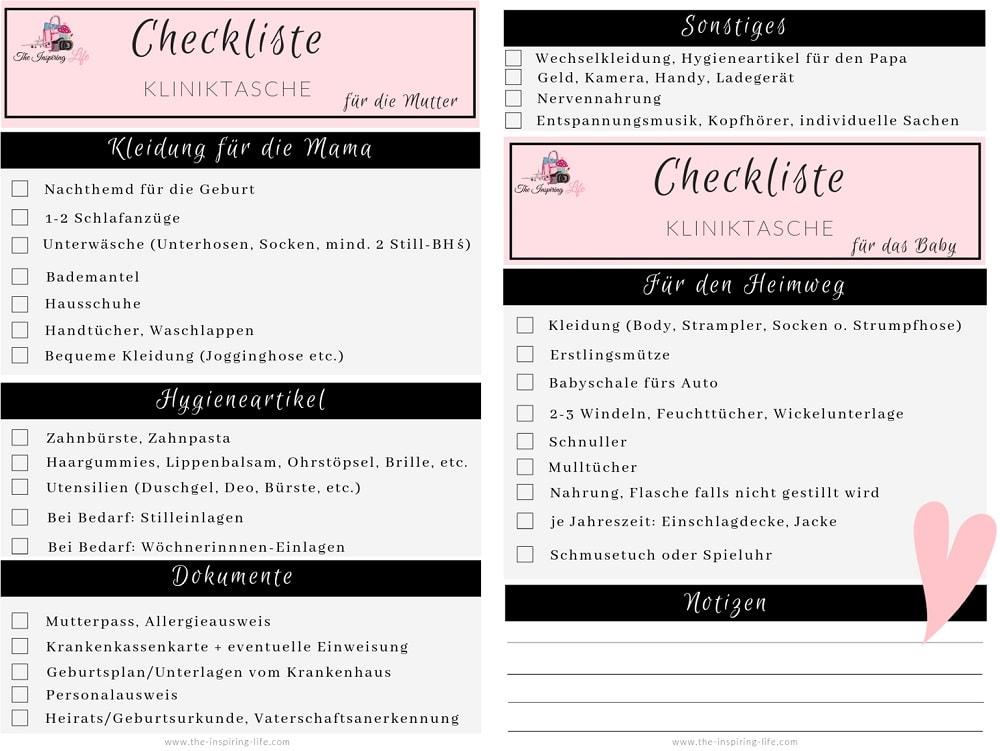 PDF Kliniktasche packen