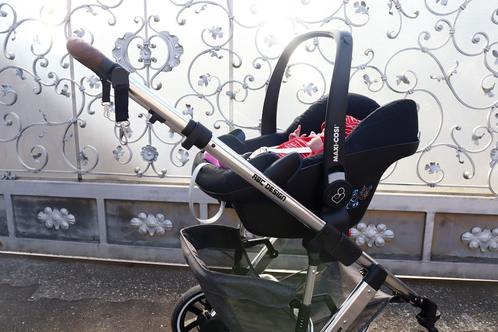 Maxi Cosi auf Kinderwagen