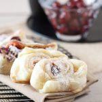 Blätterteigschnecken mit Pudding