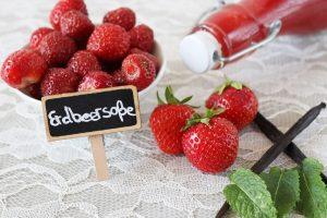 Erdbeersoße auf Vorrat