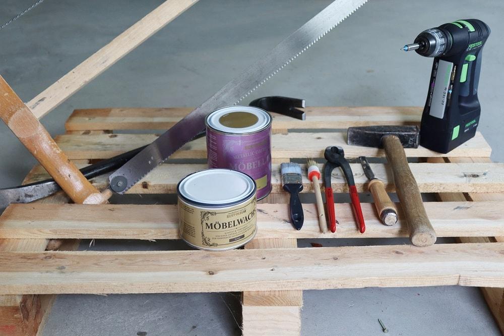 Materialien Palettenregal