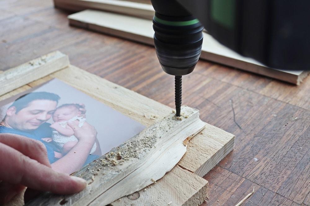 Rustikaler Bilderrahmen DIY