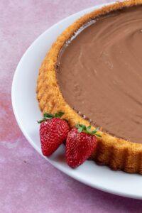 Erdbeerkuchen mit schokolade