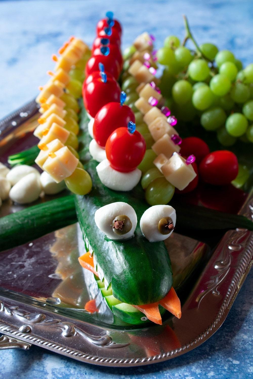 Gurkenkrokodil Kindergeburtstag Fingerfood