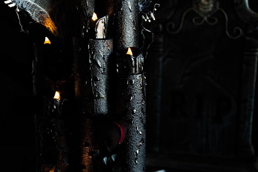 Gruselige Halloween-Kerzen